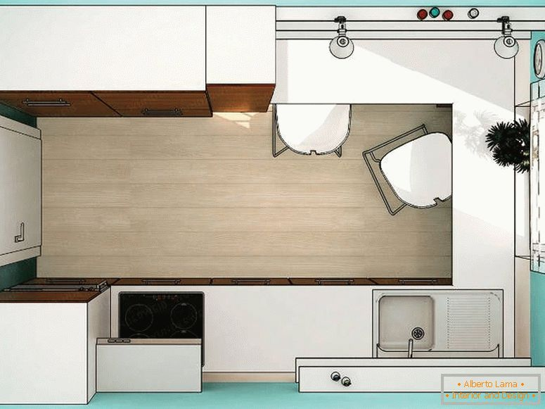 Je weniger platz, desto mehr ideen für eine kleine küche -