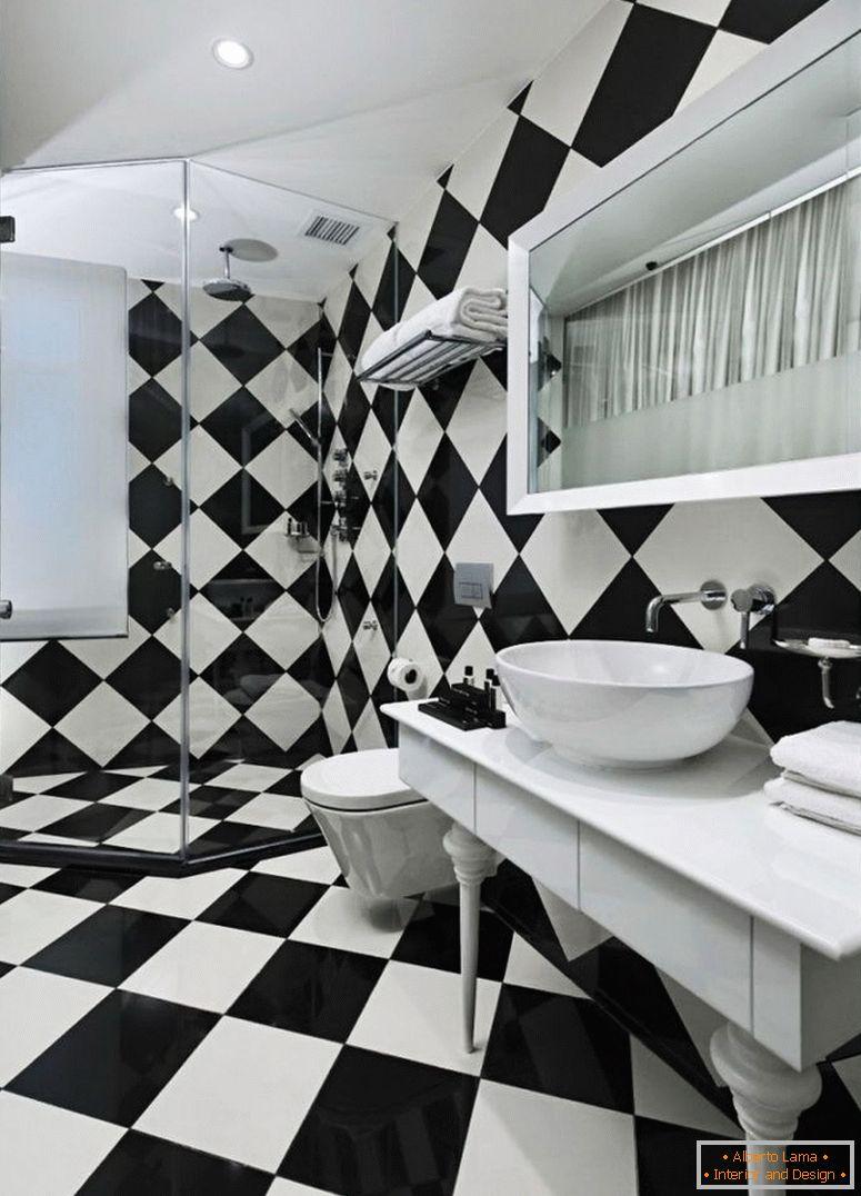 Schwarz-weiß-badezimmer (80 bilder) - ideale optionen für
