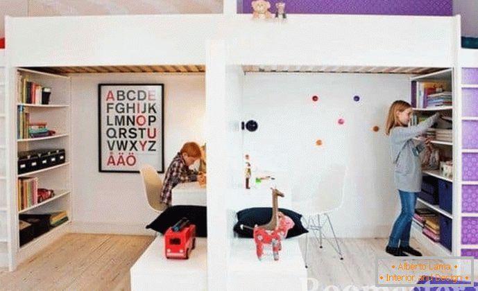 Entwurf eines kinderzimmers für kinder verschiedener