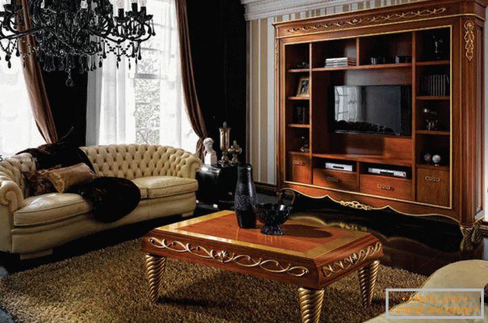 Innenarchitektur des wohnzimmers im art deco stil (54