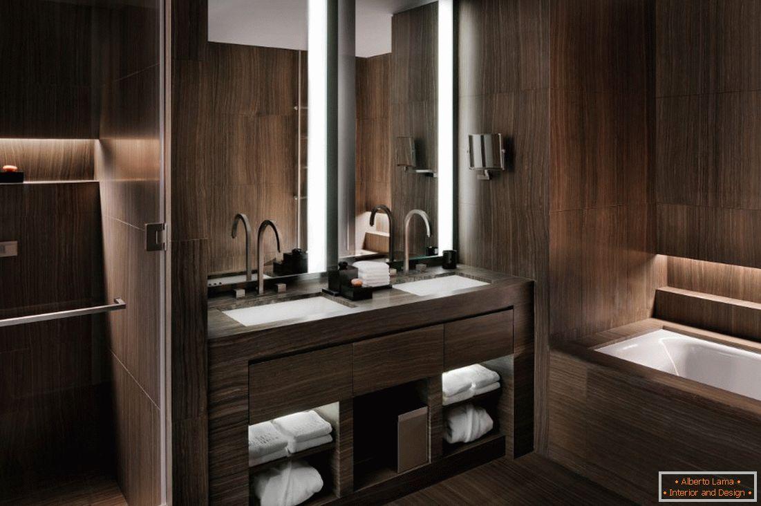 Entwurf Eines Braunen Badezimmers 75 Fotoideen