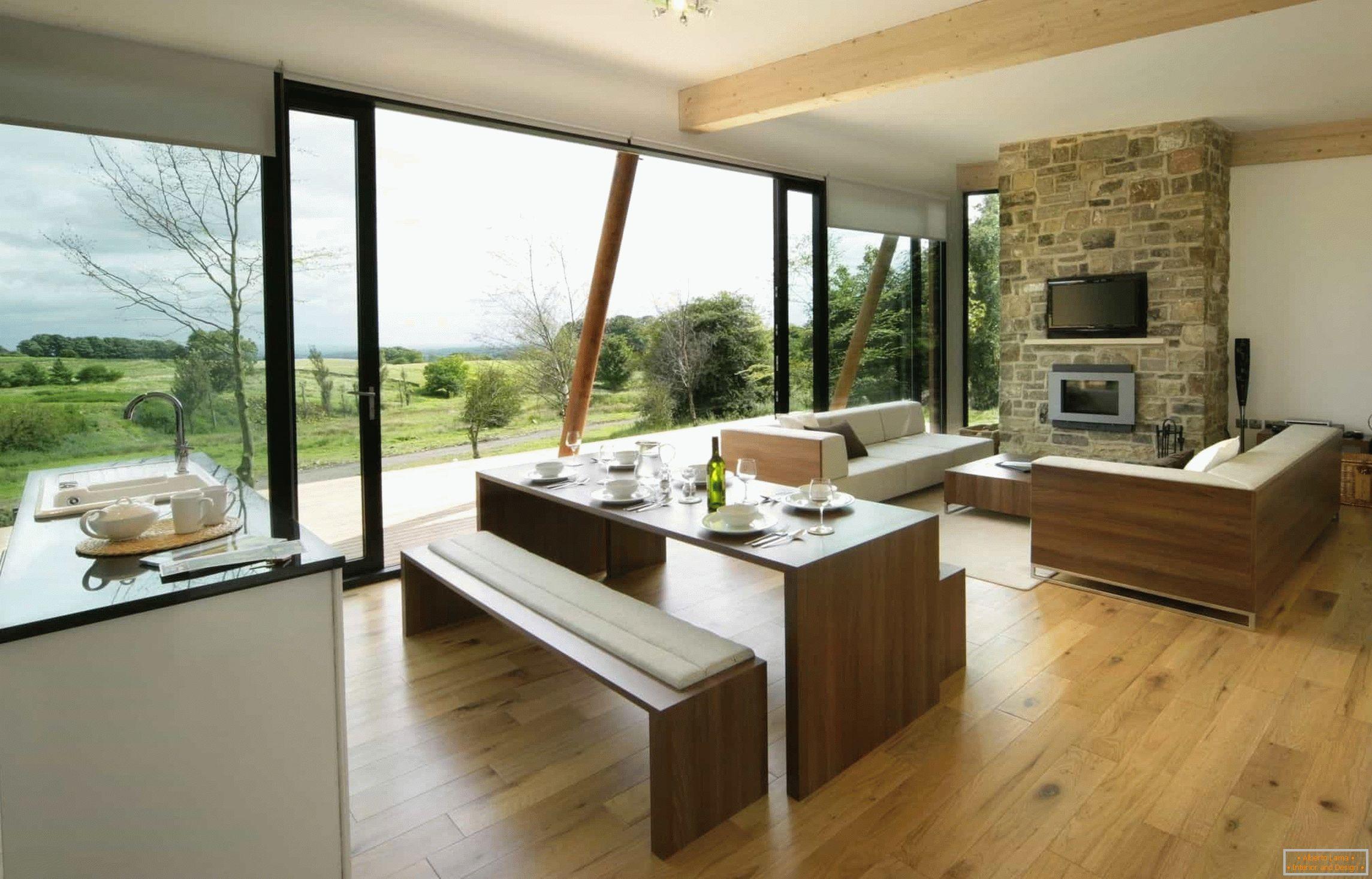 Küche-esszimmer-wohnzimmer design: 25 fotos in einem