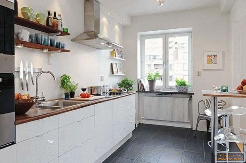 Küchendesign ohne schränke - speicherideen, innenfoto
