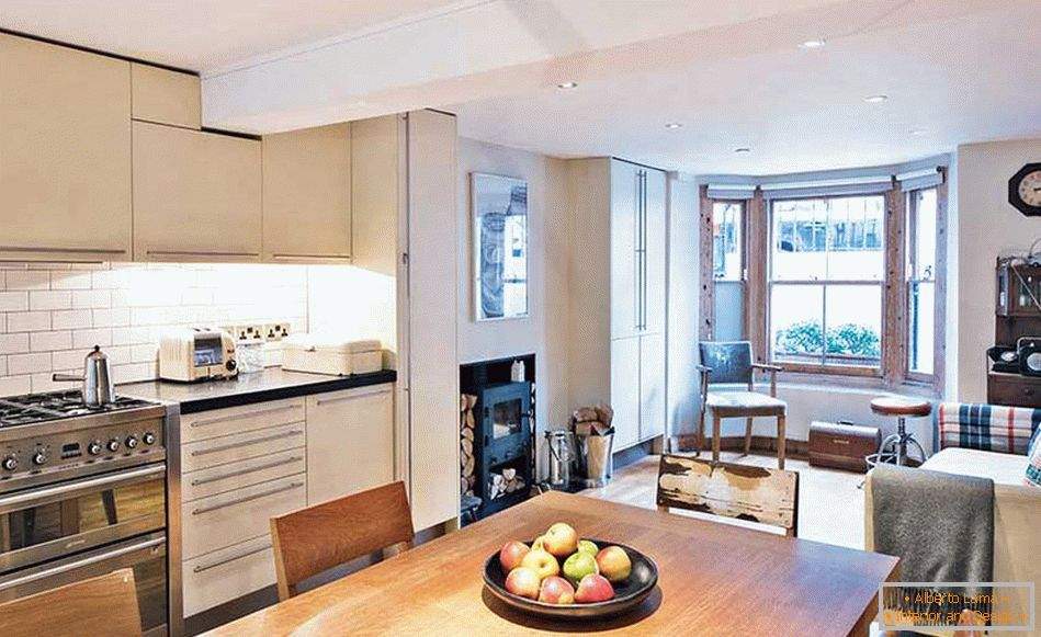 Design-küche wohnzimmer 30 quadratmeter. m. + 70 fotos von