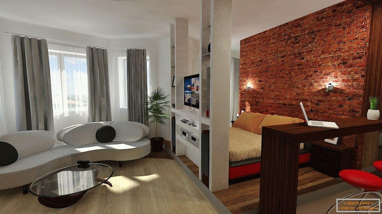 Bekannt Design-wohnung 42 quadratmeter. m + 75 foto-beispiele des KE02