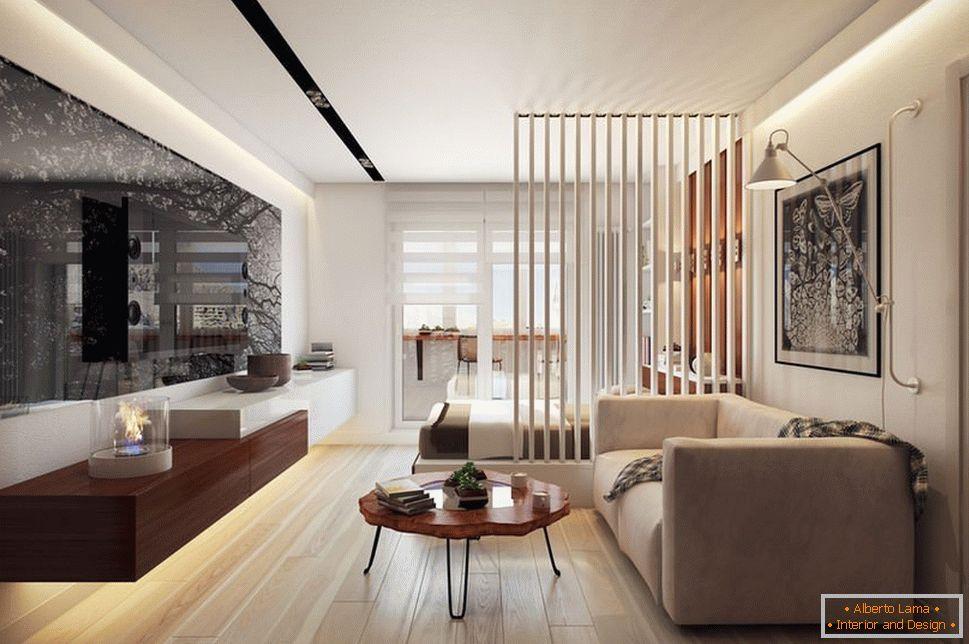 Design-einzimmerwohnung 36 quadratmeter. m -
