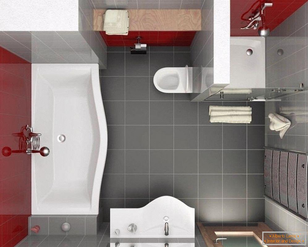 Badezimmer design 5 qm - layout und interieur