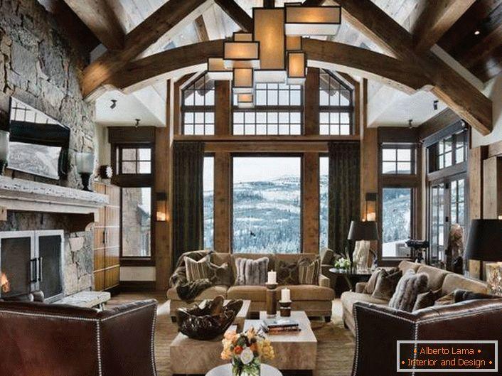 Spektakuläres dachgeschoss im stil des chalets (41 fotos)
