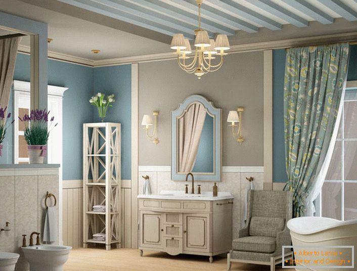 Interieur des badezimmers im mediterranen stil (26 ideen des