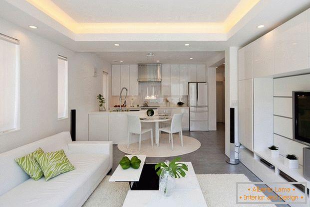 kuche design wohnzimmer in einem modernen stil