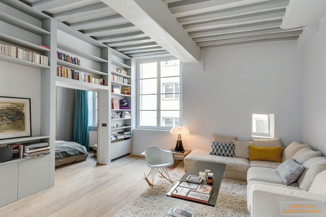 Eine Kleine Pariser Wohnung Im Minimalistischen Stil