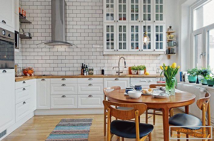 Gut gemocht Das layout und interieur der küche im skandinavischen stil JM41