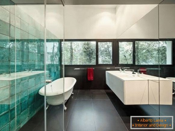 Entwerfen Sie Fliesen Im Badezimmer Spiegelfliese Für Badezimmerfotoentwurf