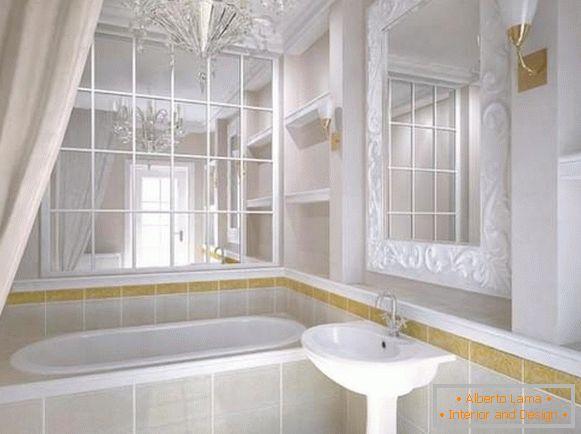 Attraktiver kronleuchter im badezimmer - 40 fotos im