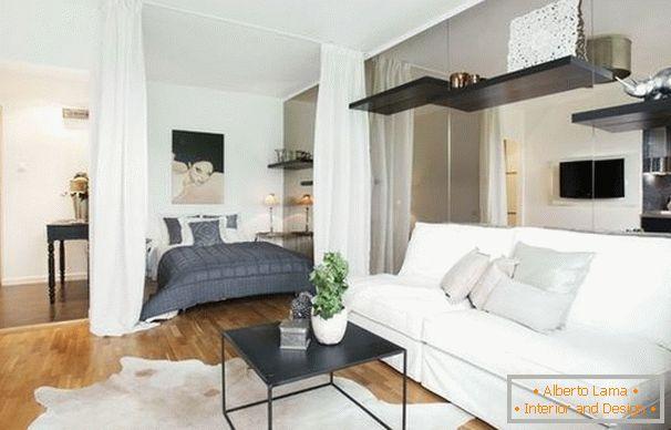 Modernes schlafzimmer wohnzimmer: planung, einrichtung und