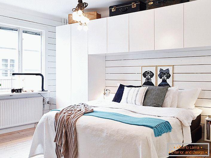 Modernes schlafzimmer im skandinavischen stil (53