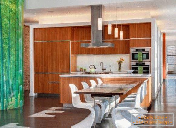 Moderne tapeten für die küche: mehr als 80 fotos
