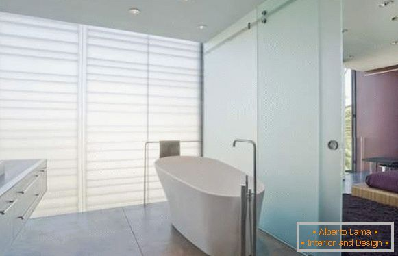 Glastüren für das badezimmer - interessante lösungen für 25