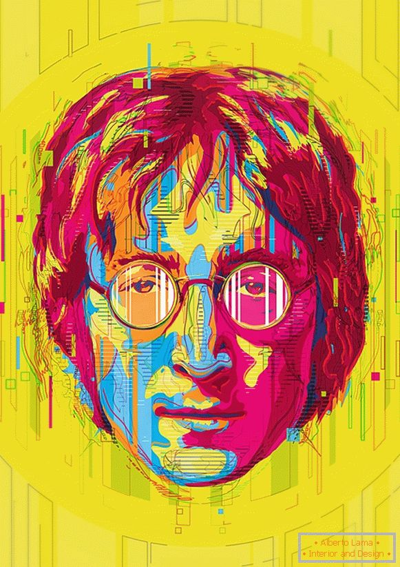 Illustration von John Lennon, Mart Biemans