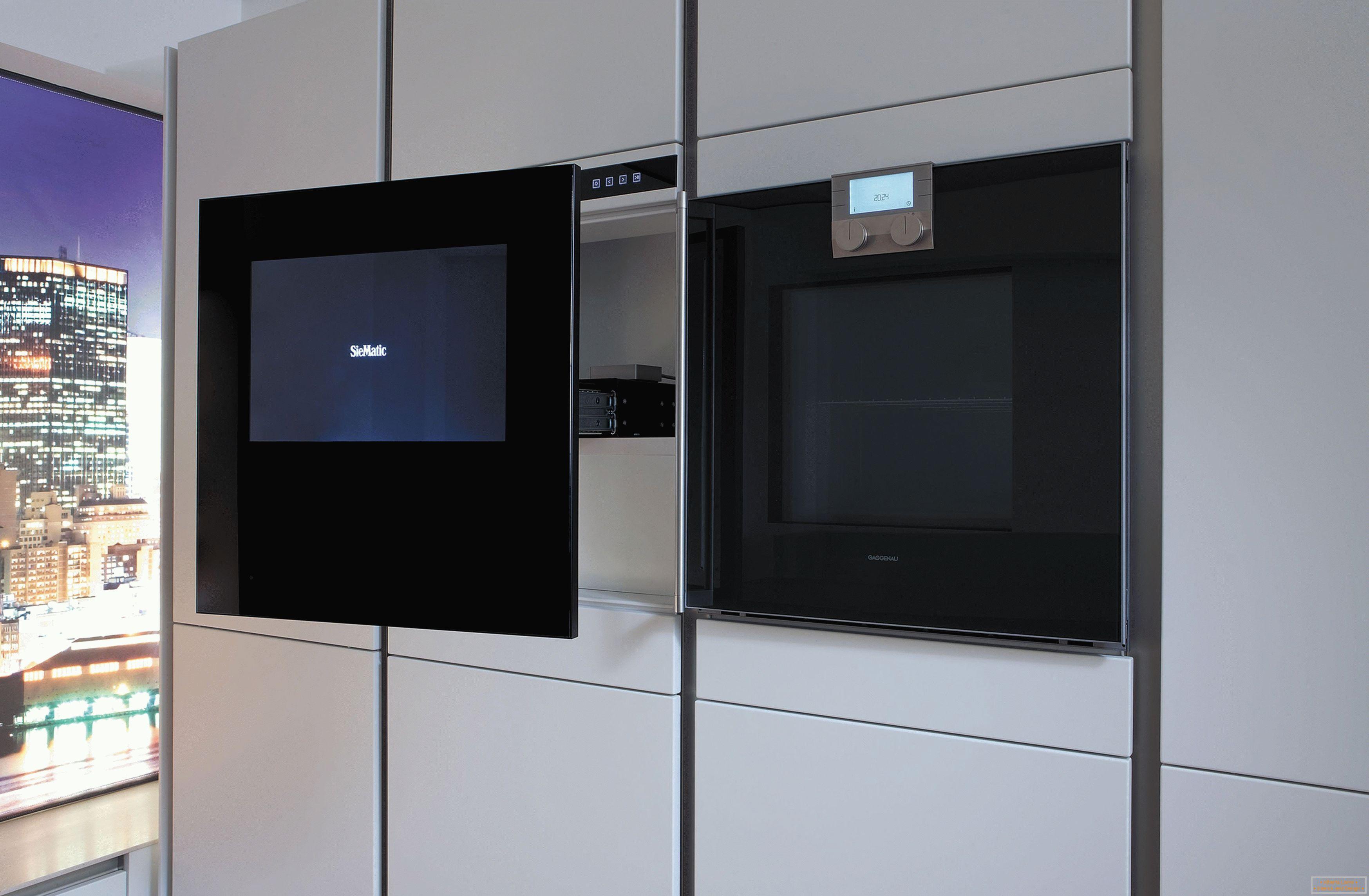 Tv in der küche: wie wähle ich und wohin?