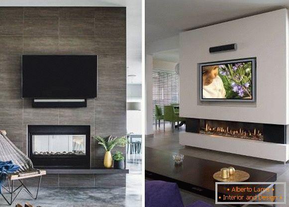 TV Und Kamin, Eingebaute Trennwand