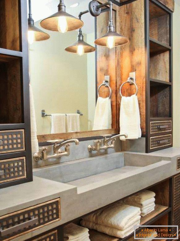 Badezimmer im loft-stil - design-funktionen und 30 fotos