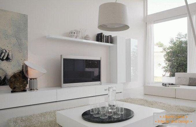 Wählen Sie Weiße Möbel Im Wohnzimmer